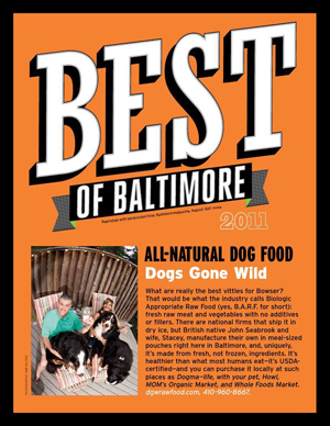 Best of Baltimore Magazine Article about Dogs Gone Wild